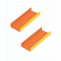 CARTON LADOS DOBLADOS 10X4,5CM. INTERIOR NARANJA P/200U. Foto: carton con pestaña15604 carton dulces interior naranja exterior a
