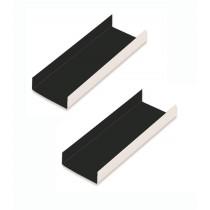 CARTON LADOS DOBLADOS 10X4.5CM. INTERIOR NEGRO P/200U. Foto: carton con pestaña15608 carton para dulces interior negro exterior
