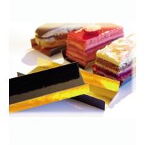 CARTON LADOS DOBLADOS 13X4.5CM. INTERIOR ORO PTE/200U. Foto: carton con pestaña15594 carton dulces interior oro exterior negro